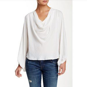 FREE PEOPLE | Cowling Around Blouse Ivory - S